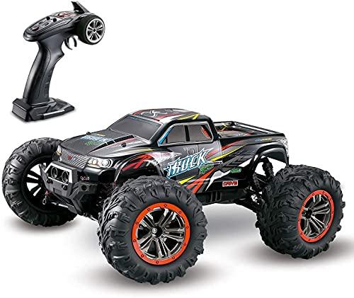 Hosim Auto telecomandata, Camion Fuoristrada RC 4WD, Buggy Monsterturck RTR in Scala 1:10, Giocattoli elettrici all'aperto per Bambini e Adulti (Rosso) Numero di Modello: 9125