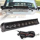 【HOZAN照明】6D 90W 単列 22インチ LED ライトバー スポットライト For  オフロード SUV ATV ジープ 1年間保証付き