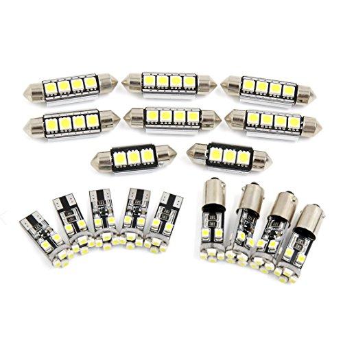 sourcingmap 17x Site dôme blanc Canbus LED Lumière Kit Intérieur