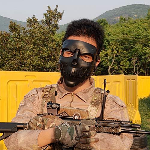 Wwman Paintball Airsoft masker, solide full face bescherming tactisch live-action CS masker met verschillende kleurlenzen