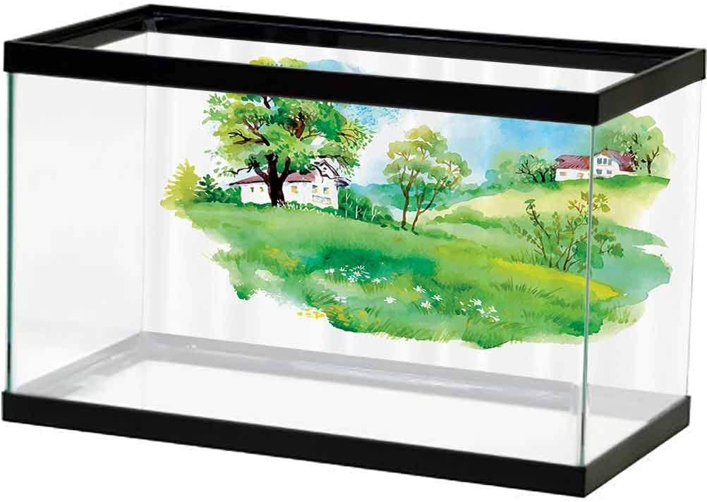 Apartment Decor Collection PVC Max Max 55% OFF 90% OFF Aquarium Old Farm Hous Background