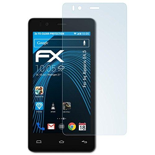 atFolix Schutzfolie kompatibel mit bq Aquaris E4.5 Folie, ultraklare FX Bildschirmschutzfolie (3X)