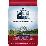 Natural Balance L.I.D. Limited Ingredient Diets Dry Dog Food, Sweet Potato & Bison Formula, 4.5 Pounds, Grain Free