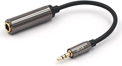 VCE Gold Plated 3.5mm 1/8 inch Male to 6.35mm 1/4 inch Female Audio Jack Adapter-8inch