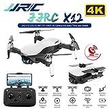 Alician JJRC X12 Anti-Shake 3 Axis Gimble GPS Drone WiFi FPV 1080P 4K HD Camera Brushless Motor Foldable Quadcopter Vs H117s Zino White 4k 3 Batteries