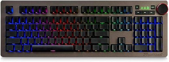 Baugger AK60 Teclado Mecânico Side Carving RGB Interruptores Azul Cereja Teclado Gaming Multimídia Knob Com Fio Retroilumi...