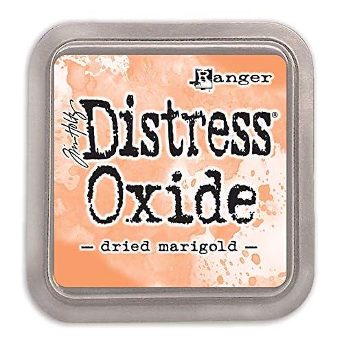 Ranger Festive Berries-a 2x2 Raised, Water-Reactive Dye Ink Tim Holtz Distress Oxide Pad Dried Marigold, ys/m, Yellow |