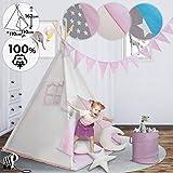 Tipi para habitación de niños con ventana y alfombra amazon