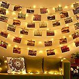 Diyife Clip Cadena de Luces LED [Actualizado] 100LED 10M Luces de Hadas de Soporte de Clip de Foto para Colgar Fotos Tarjetas Memos Dormitorio Fiesta Festival (50 Clip y 20 Uñas)