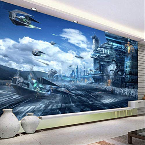 Fond D'écran Mural 3d Personnalisé Pour Les Murs Future Universe War Thème Science Fiction Movie Large Wall Painting Photo Wallpaper Roll Largeur 400cm - Hauteur280cm un