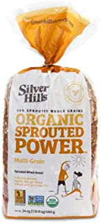 Silver Hills Bakery Organic Multigrain Sprouted Wheat Bread, 24 Ounce -- 8 per case.