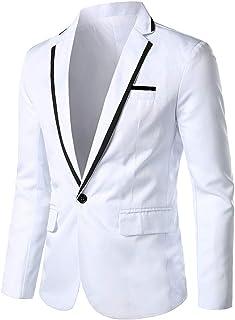 Men's Premium Casual one Button Slim Fit Blazer Suit Jacket Stylish Single Breasted Goosun Fashion Solid Blazer Tuxedo Bus...