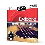 ' Addario EXP17–3D con rivestimento fosforoso corde per chitarra acustica, 13–56, 3set, medium