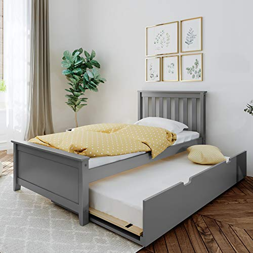 Max & Lily Bed with Trundle, Twin, Grey