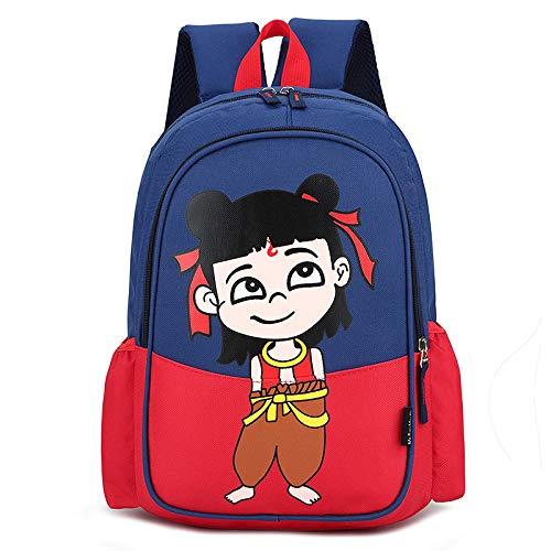 Mochila Infantil de Dibujos Animados Grado 1-3 Mochilas Escolares Rojo Alto 35 Ancho 25