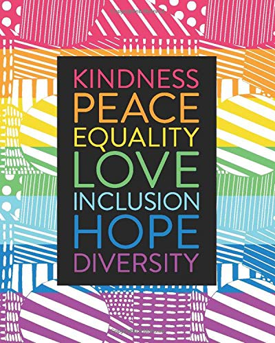 Academic Weekly Monthly Planner July 2020 - June 2021, Kindness Peace Equality Love Inclusion Hope Diversity: Student Notebook, Calendar & Organizer ... | Inspirational Quotes, Abstract Art Pattern