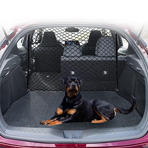 JYOKK Coche Arranque Mascota separación Red Valla Seguridad Barrera automotriz Mascotas barreras Barrera de Red de Perro para Coche con Organizador de Malla de Seguridad