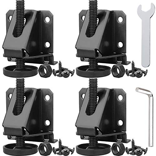 Anwenk Leveling Feet Heavy Duty Furniture Levelers Adjustable Table Leg Leveler w/Lock Nuts for Furniture,Table, Cabinets, Workbench,Shelving Units and More,Black