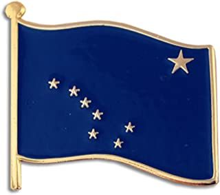 Alaska US State Flag AK Enamel Lapel Pin 1