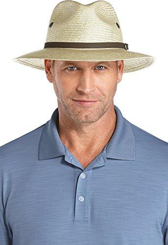 Coolibar UPF 50+ Men's Fairway Golf Hat - Sun Protective (XX-Large- Antique Ivory)