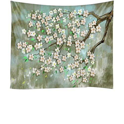 Tapiz para colgar en la pared con diseño de árbol verde cártamo de las maravillas y mandala, decoración bohemia