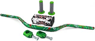 "JFG RACING 1-1/8"" 28mm Handlebar Fat Handle Bar & Riser Mount Clamp & Pad & Grips Set For Honda CR125R CR250R CRF250R CRF450R CRF450RX CRF250X CRF450X KAWASAKI KX125 KX250 KX250F KX450F SUZUKI RMZ250"
