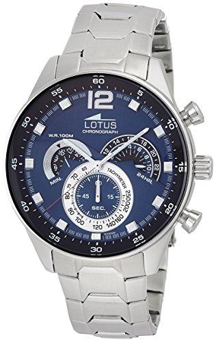 Reloj de pulsera de la marca Lotus. Analógico, con mecanismo de cuarzo, para hombre, acero inoxidable