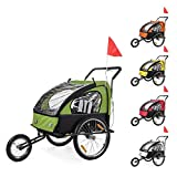SAMAX Children Bike Trailer 2in1 Kids Jogger Stroller with Suspension Bicycle Trailer Transport Buggy Carrier...