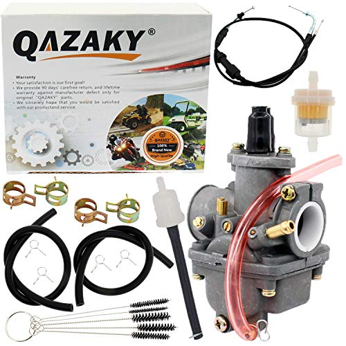 QAZAKY Throttle Gas Cable + Carburetor Replacement for Yamaha PW 80 PW80 Y-Zinger Big Wheel 80 BW80 Lifan Carb Yzinger 1983-2006