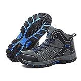 YXDS Zapatos de Mujer de Cuero al Aire Libre, Antideslizantes, Impermeables, Zapatos de montañismo, Botas de Senderismo con Cordones para Mujer, Zapatos Deportivos para Escalar montaña
