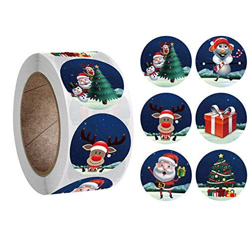 Etiquetas Navidad Adhesivas Marca Ambolio