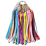 48 Pack 7 inch Lightweight Colorful Hand Wrist Lanyard