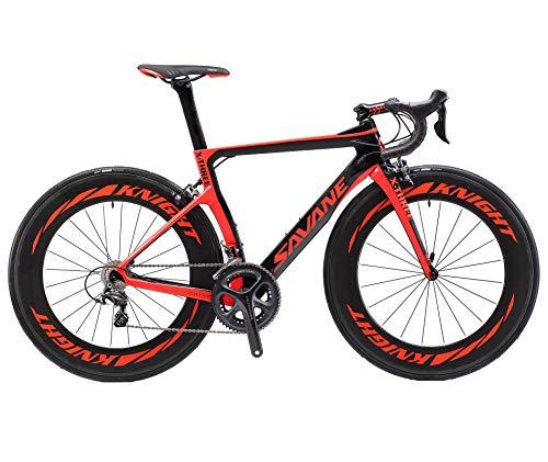 SAVADECK Phantom3.0 Carbon Rennrad 700C Kohlefaser Rennräder Vollcarbon Fahrrad mit Shimano Ultegra R8000 22 Gang Schaltgruppe Continental Reifen und Fizik Sattel