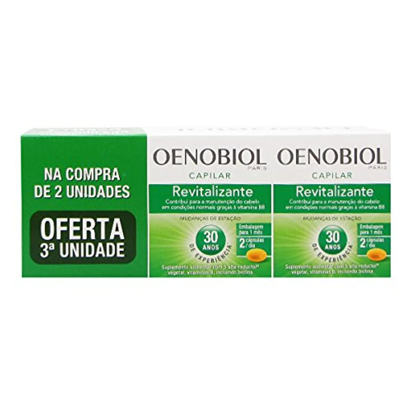 脇に切り下げびっくりOenobiol Revitalizante Capilar Pack 3x60caps [並行輸入品]