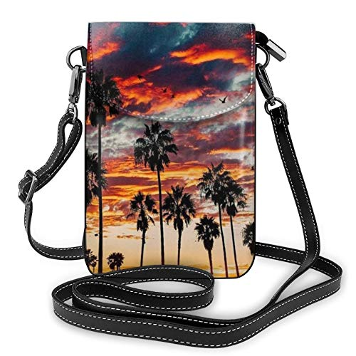 Bolso ligero del teléfono celular de la PU, bolso pequeño de la gama Blaze Crossbody del bolso de hombro de la cartera del bolso del Pounch para las mujeres,...