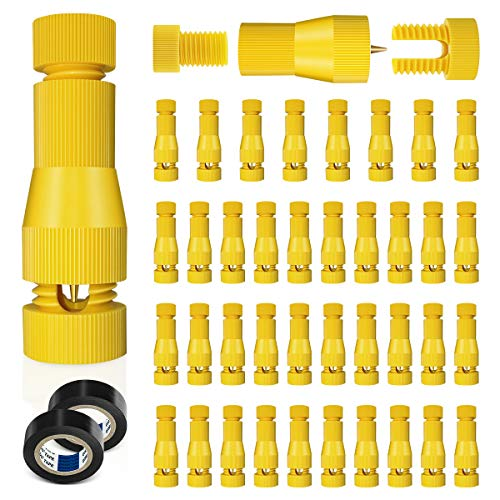 SUNRIVER Low Voltage Fastlock Wire Connectors Outdoor Landscape Lighting Connector 12-16 Gauge Cable Connectors Work with Malibu Paradise Moonrays and More (40Pack)