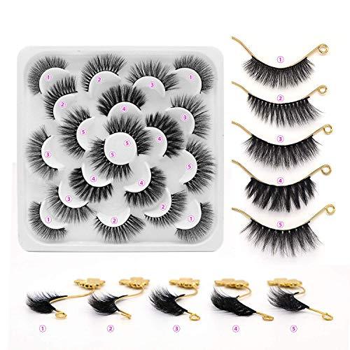 False Eyelashes 10 Pairs Handmade Fake Eyelashes Natrual Look Lashes Reusable Dramatic Eyelashes Pack