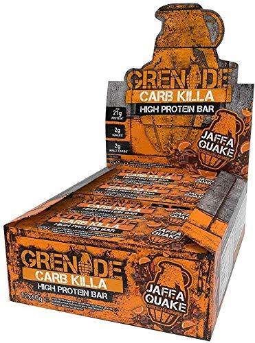Grenade Carb Killa High Protein and Low Carb Bar, 12 x 60 g - Jaffa Quake