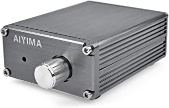 AOSHIKE 8-25V 100W TPA3116 Subwoofer Amplifier TPA3116D2 Digital Power Amplifiers NE5532 OPAMP (Titanium Color)