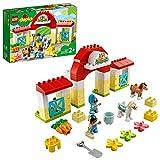 LEGO DUPLO Town Maneggio per la Cura dei 2 Pony Giocattolo, Ideale per Bambini Piccoli di 2+ Anni, Set di Giochi con Fattoria per Bimbi in Età Prescolare, 10951