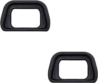 JJC Visor Ocular Eyecup para Sony Alpha A6300 A6000 NEX-6 NEX-7 Cámaras y FDA-EV1S Electronic Viewfinder Reemplazo de Sony FDA-EP10 Eyepiece (Lote de 2)