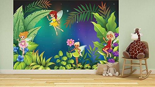 Bilderdepot24 Fototapete selbstklebend |Feenwiese | in 150x100 cm | Poster Dekoration Wandbild Wandposter Wand Wanddeko Mädchen