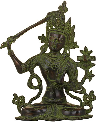 Exotic India Manjushri, Noir/Vert, Taille : 12,7 x 24,1 x 27,9 cm