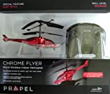 Propel Chrome Flyer--Micro Wireless Indoor RC Helicopter--RED Chrome Finish