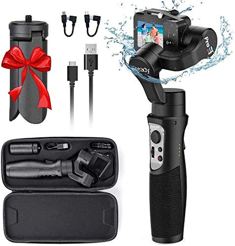 Hohem GoPro Gimbal Stabilizer, iSteady Pro 3 Splash-Proof 3-Axis Handheld Gimbal Stabilizer for Action Cameras GoPro Hero 8/7/6/5/4/3 DJI OSMO Action Insta360 One R Sony RX0 YI Cam, GoPro Control