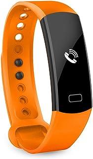 Rastreador de Ejercicios Multifunción, IP67 Impermeable Reloj Pulsómetro Monitor de Sueño Podómetro Recordatorio sedentario Reloj Inteligente Compatible con Android iOS