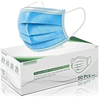 50-Pack Hotodeal 3 Ply Protection Disposable Face Masks