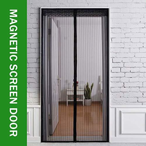 LXXTI Magnetisch vliegengaas, voor balkondeuren, magneet, insectenwerende deur, automatisch sluiten, opvouwbaar, lucht kan vrij stromen, voor gangen, deuren 120x240cm/47