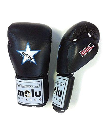 MoluBoxing - Guante Piel Star Azteca Gel, 18 onzas, Color: Negro