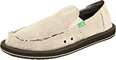 High-rebound EVA footbed Happy U outsole Made with natural, animal-free materials: hemp, cork, latex, and salvaged tire rubber Laid back and adhering to an ethos, this relaxed loafer delivers comfort and conscience.